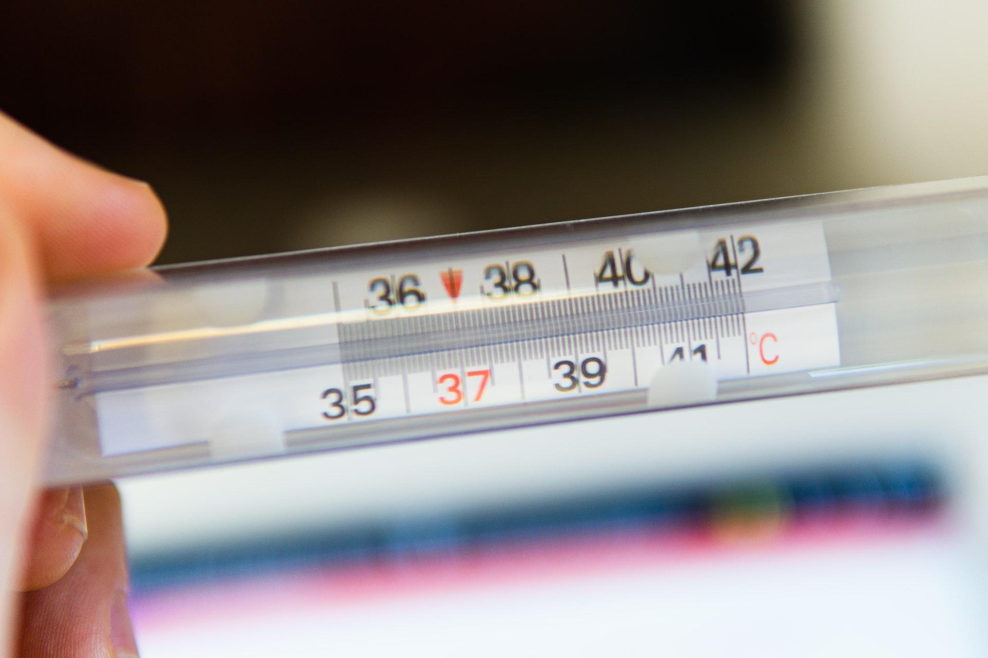 体温を測る